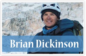 athlete Brian Dickinson Mountain Climbing