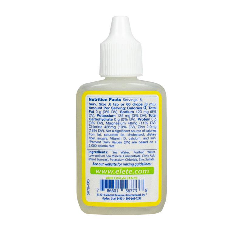 CitriLyte Add-In pocket bottle back panel